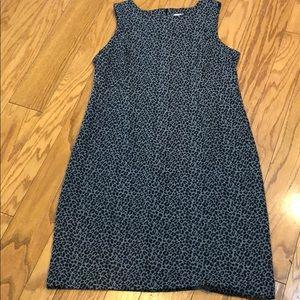 Chico's leopard print sleeveless sheath dress